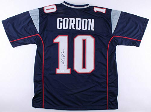 Josh Gordon Autographed Signed New England Patriots Jersey (JSA COA) Pro Bowl Wide Receiver