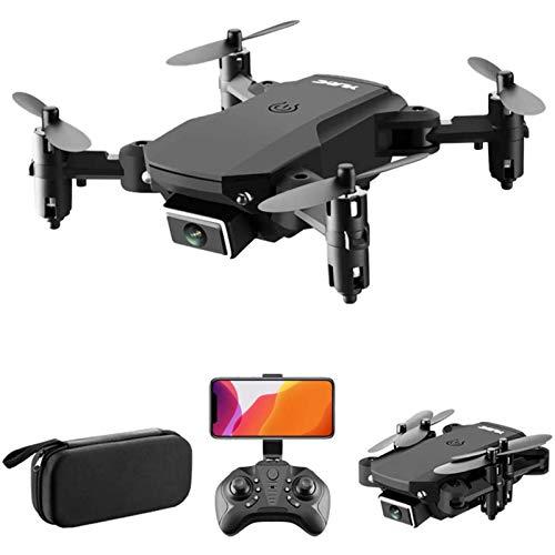 JJDSN Mini Drone con videocamera HD 4K, Drone FPV WiFi Pieghevole per Bambini e Adulti, Qudcopter RC con Posizionamento del Flusso Ottico, modalità Senza Testa, Mantenimento dell'altitudine, vibra