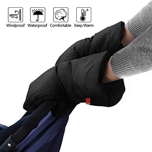 Gants de Poussette -WENTS Manchon de Poussette imperméables en nylon, pour poussettes, voitures électriques, guidons de vélo, gants de protection hivernale coupe-vent