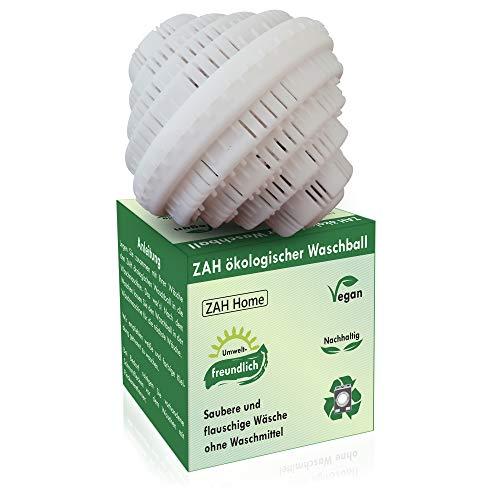 ZAH Öko Waschball für Waschmaschine, Waschkugel für Waschmaschine, Nachhaltige Produkte, Baby Waschmittel für Allergiker, Wäscheball, Vegan, Bio und Öko Waschmittel Natur, Waschbälle, Zero Waste