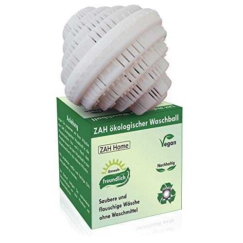 ZAH ökologischer Waschball, Saubere Wäsche ohne Waschmittel, Umweltfreundlich, Waschmittel für Allergiker, Waschkugel Bio Waschball, Vegan, Bio Waschmittel, Nachhaltige Produkte, Ökologische Geschenke