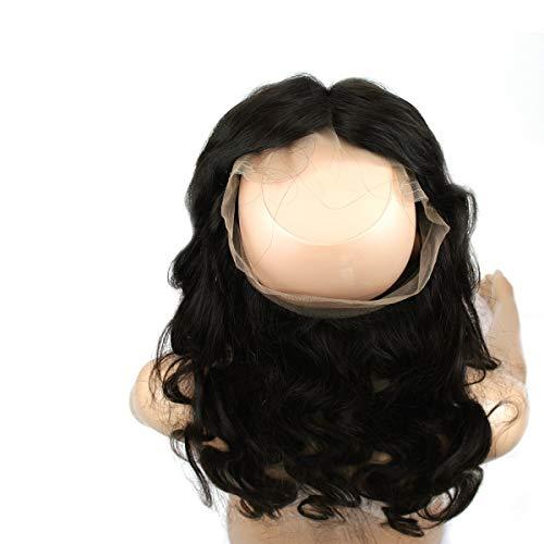 Urembo Gold Extensions de cheveux brésiliens 100 % naturels Remy ondulés non traités Couleur naturelle (marron foncé non teinté) Longueur : 45 cm