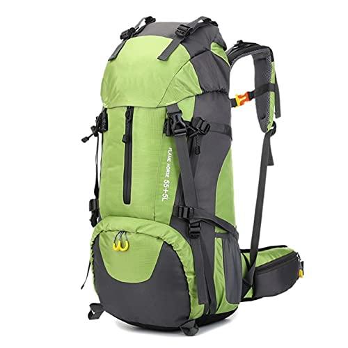 Lshbwsoif Mochila de camping de 60 l, resistente al agua, para correr, ciclismo, senderismo, escalada (tamaño: tamaño libre; color: verde)