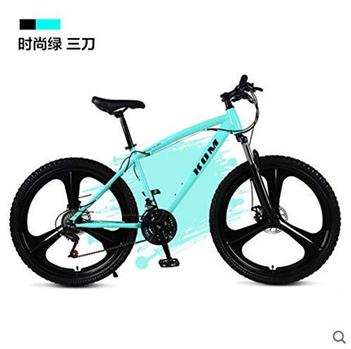 Fahrrad Fahrrad Mountainbikes hometrainer fahrrad elektrisches Fahrrad 26 Zoll 21/24/27 Geschwindigkeit Kohlenstoffstahl Downhill Mountainbike Einrad Fahrrad Outdoor-Reisen-B grün_27 Geschwindigkeit