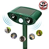 ZOVENCHI Ultrasonic Animal Pest Repeller, Outdoor Solar Powered Pest and Animal Repellent, Waterproof Deterrent Scarer - Motion Sensor, Repels Cat, Dog, Rabbits, Fox, Raccoons, Skunk, Rats