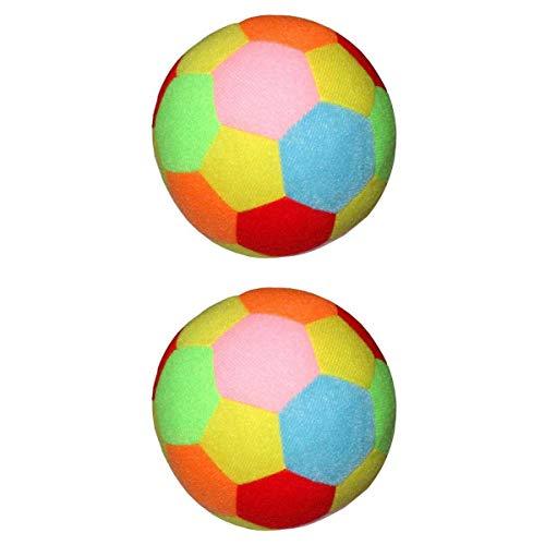 T TOOYFUL 2pcs Ballon de Football en Plein Air Intérieur Boule Bébé Jouets Cadeau pour Enfants