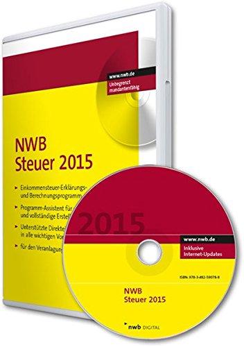 NWB Steuer 2015: Steuererklärungs- und Berechnungsprogramm für den Veranlagungszeitraum 2015
