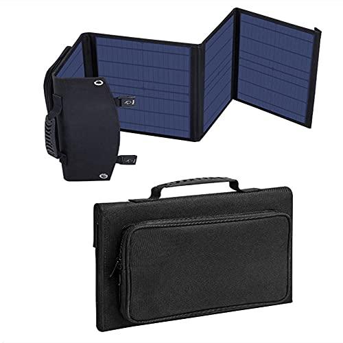Paneles solares monocristalinos flexibles de 100 W, panel solar plegable portátil con puerto USB doble y diseño de maleta para RV, hogar, camping, barco, remolque