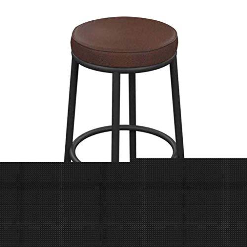 SHSM Breakfast Bar Sgabello Sedie in Altezza, Cucina con Poggiapiedi, Acciaio Cromato con Contatore Di Legno Sgabelli Sedie con Gambe Di Metallo Barsteroli ad Alto Sgabelli Vintage Ru