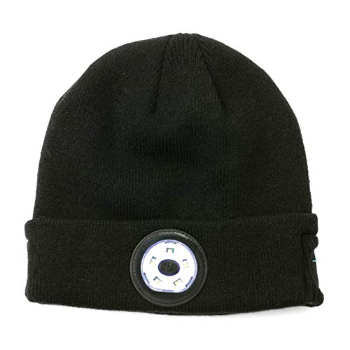 OCHO LED Neutral bluetooth music headlight knitted hat, USB Rechargeable Winter warm knitted hat