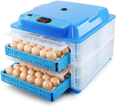 ZJWN Incubadoras de Huevos Automaticas, Incubadora de Huevos Máquina con Control automático de Temperatura y Humedad, para el hogar, Laboratorio,Blue_128 Eggs