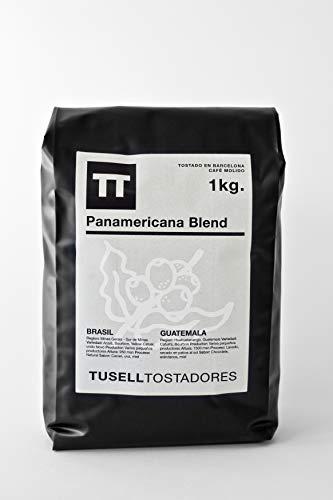 Cafe molido Natural Arabica 100 % - 1kg - Panamericana Blend - Cafetera Italiana Moka Espresso - Tusell Tostadores