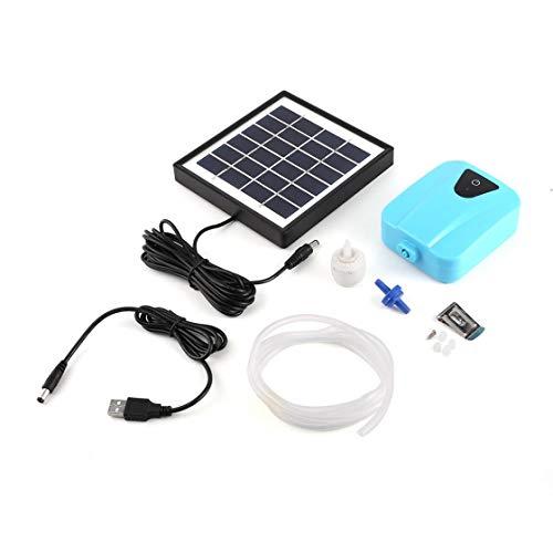 Jessicadaphne 1 Juego de oxigenador de energía Solar, Bomba de oxígeno de Agua, aireador de Estanque, Bomba de Aire de Acuario, Bomba de aireación Solar, máquina de oxigenación