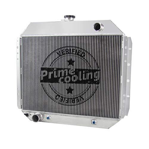 Primecooling 56MM 3 Row Core Aluminum Radiator for Ford F100 F150 F250 F350 Truck Pickup 1966-79 /Bronco V8 1978-79