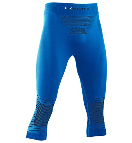 X-BIONIC Energizer 4.0 Pants 3/4 Men Pantalon de Compression Collant de Sport Homme Teal Blue/Anthracite FR : L (Taille Fabricant : L)