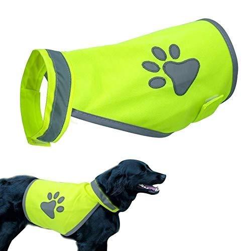Gilet Catarifrangente di Sicurezza per Cani di Taglia Piccola e Grande, con Imbracatura di Sicurezza per attività all'Aperto, Escursionismo, Passeggia