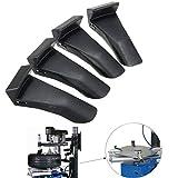 YSHtanj Reifenschutz, Reparaturwerkzeug, Reifenschutz, 4 Stück, für Auto/Fahrzeug/Reifenmontierer, Klemmbacken, Kunststoff, Schwarz