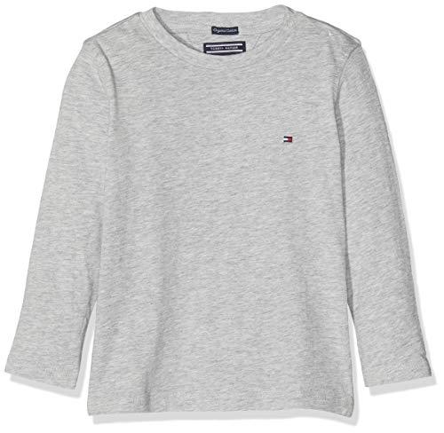 Tommy Hilfiger Jungen Boys Basic CN Knit L/S T-Shirt, Grau (Grey Heather 004), 116 (Herstellergröße: 6)