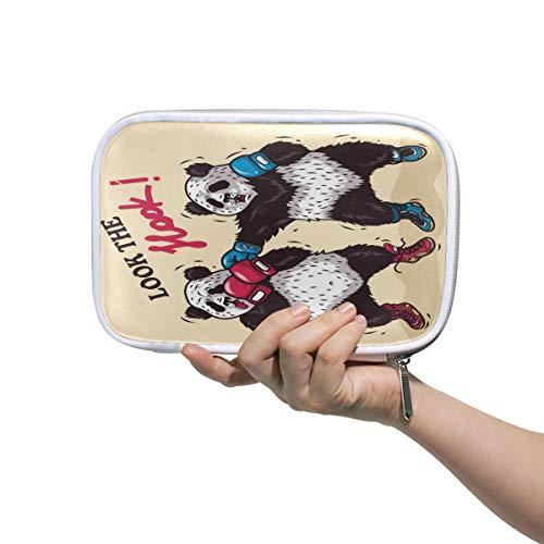 Pandas Boxhandschuhe, Federmäppchen, Schule, Stifteetui, Tier, Frauen, Kosmetik, Make-up-Tasche, Büro, Aufbewahrung, Organizer, Reisetasche mit Reißverschluss für den Außenbereich
