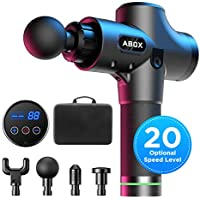 Abox Percussion Massage Gun/Handheld Muscle Massager with 20 Levels