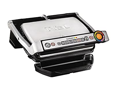 T-Fal GC712D54 OptiGrill + Grill with Automatic Sensor Cooking, Multicolor