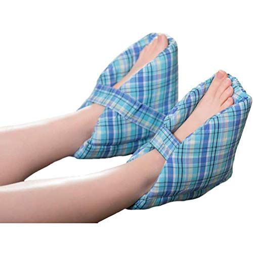 Heel Protector Pillow, Soft Comforting Heel-Float Heel Protector, Adjustable Ankle Protectors for Keeping Warm & Relieve Bed Sores, Great for Swollen Feet (2PCS)