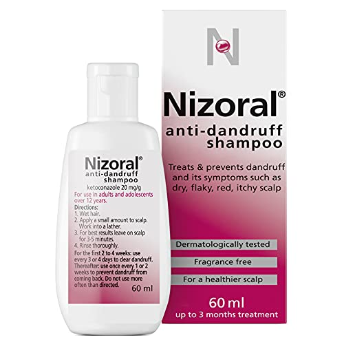 Nizoral Anti-dandruff Shampoo, Treats and Prevents Dandruff, Suitable for Dry Flaky and Itchy Scalp,...