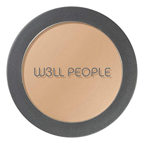 W3LL PEOPLE - Natural Bio Base Baked Foundation | Clean, Non-Toxic Makeup (Medium Golden)