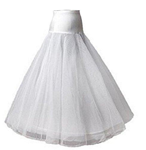 Falda de miriñón de línea A, 1 anillo, color blanco, vestido de novia, enagua de tul, 105 cm