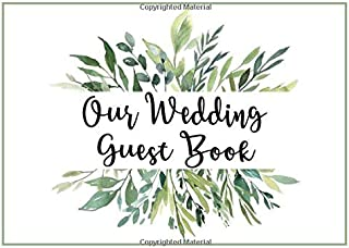 Our Wedding Guest Book: Greenery Leaves Our Wedding Guest Book Garden Theme for Party Events