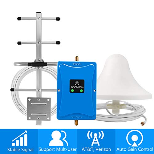 Home 4G Cell Phone Signal Booster for Verizon AT&T T-Mobile - Improve Your LTE Data and Voice by...