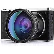 CamKing Digital Camera 1080P 4.0Inch LCD Touch Screen 9X Digital Zoom Wide Angle Camera Camcorder 24MP 4K Vlogging Camera