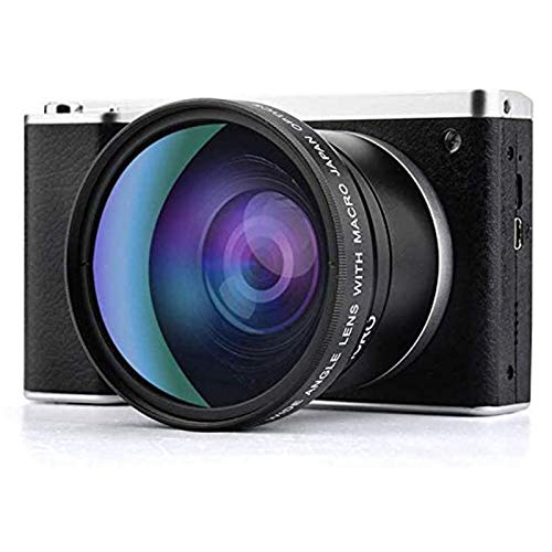 Digital Camera 24MP 4.0 Inch Touch Monitor Camera for Backpacking FHD Mini Compact Wide Angle Lens Pocket Camera for Photography(2 batteries Included)