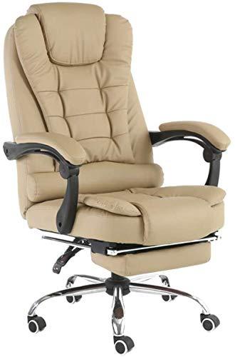 YONGYONGCHONG Silla de oficina ergonómica para juegos, E-Sports, con respaldo alto, para carreras de computadoras, masajes, mesa giratoria, silla negra, tela (color: color caqui)