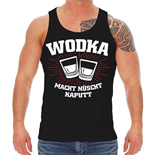 Spaß kostet Männer und Herren Trägershirt Wodka Macht nüscht kaputt Größe S - 8XL