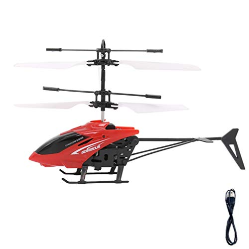 STOBOK Crianças Helicóptero de Brinquedo USB Cobrando Helicóptero Aviões de Controle Remoto Pequeno Meninos Airplant Vôo Ao Ar Livre Jogando Crianças Helicóptero Cor Aleatória de Avião