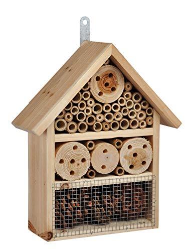 Bambelaa! Insektenhotel Klein Hotel für Insekten Insektenhaus Garten zum Aufhängen Hummelhotel Aus Holz Nistkasten