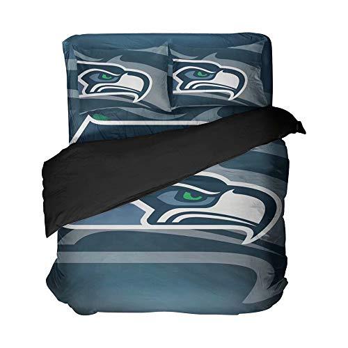 Magaport Seattle Bedding Amercian Football Flat Sheets Sea Eagle Bed Set Bedspread Duvet Covers Twin 4pcs