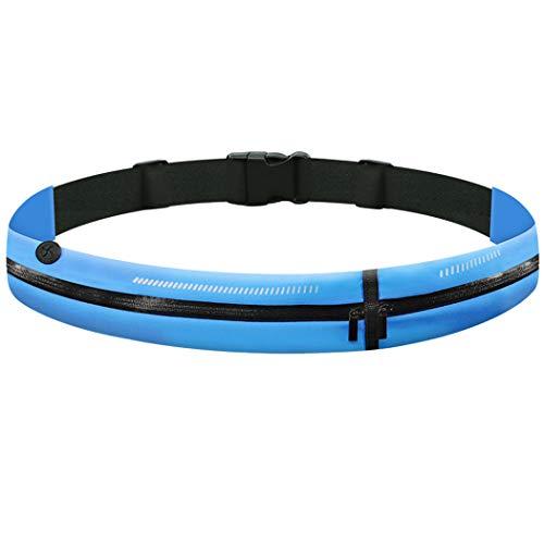 GothicBride Sportowa saszetka biodrowa, torba na pasek, lekka, wodoszczelna, z wejściem na słuchawki, do biegania