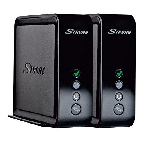 STRONG Connection Kit 1700 (LAN Bridge, puissance jusqu'á 1733 Mbit/s, 2.4+5GHz Wi-Fi, Système MESH Wifi, Solution Multiroom, 2x amplificateurs sans fil pour Jeux et Smart TV) noir