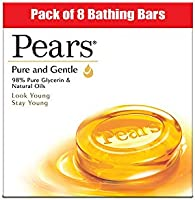 Pears Pure & Gentle Moisturising Bathing Bar Soap with Glycerine For Golden Glow 125g