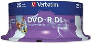 Verbatim DVD+R Double Layer Inkjet Printable 8 x 8.5GB DVD+R DL 25pieza(s) - DVD+RW vírgenes (8,5 GB, DVD+R DL, 25 pieza(s), 240 min, Policarbonato, 120 mm)