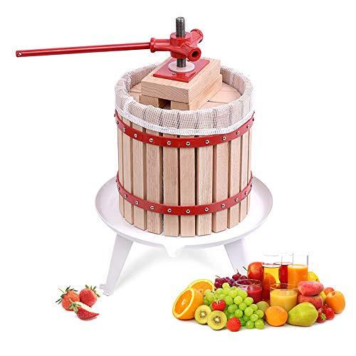 Aufun 12L Prensa de Frutas Prensa de Frutas Prensa de vinos Exprimidor de jugos Mash Press Fruit Mill