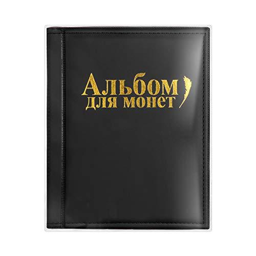 VORCOOL Album numismatique Collection rangements pour Pièces de Monnaie 250 Compartiments (Noir)