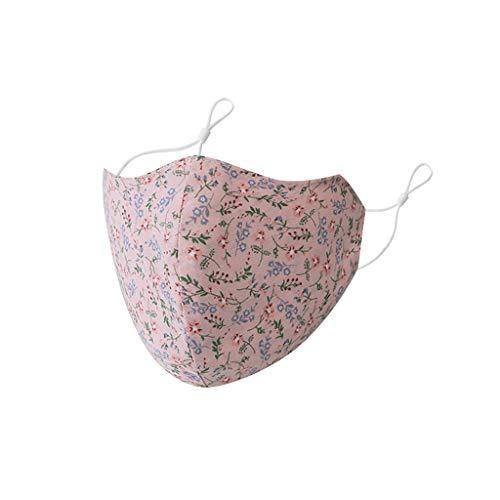 5 Stück Mundschutz Elegant Gänseblümchen Grafik Face Bandana Waschbar Mund und Nasenschutz Damen Sommer Atmungsaktiv Sport Premium Halstuch Earloop-Schal Wiederverwendbar Face Shields