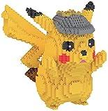 Xiaokang Pikachu Building Block, Bloque de construcción Modelo Building Block Set 1400 + PCS Anime Mini Blocks DIY Juguetes, Dios Pet PUCHKEZLE DIY Juguete Educativo