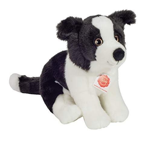 Teddy Hermann 91959 Hund Border Collie Welpe sitzend 25 cm, Kuscheltier, Plüschtier