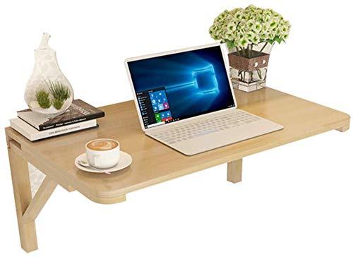 QTQZDD aan de muur gemonteerde desktop laptop standaard inklapbare computertafel op de wandtafel, massief hout, 9 maten 1 1