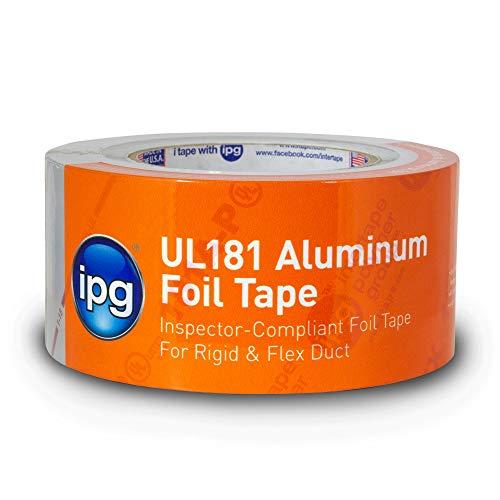 IPG UL181 Aluminum Foil Tape, 2.5' x 60 yd, (Single Roll)