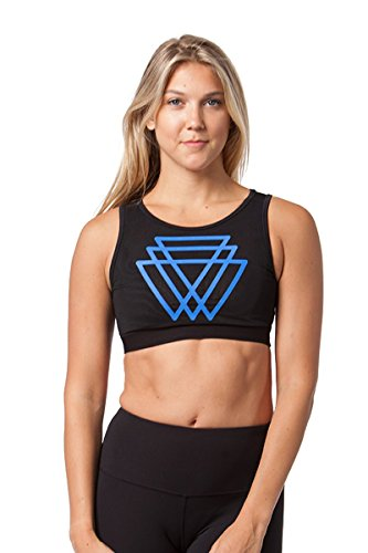 90 Degree By Reflex Sheer Back Sports Bra - Royal Blue - Small